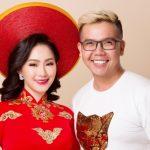 Lương Bích Hữu làm mẫu áo dài Xuân Hè của Minh Châu