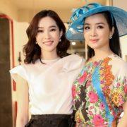 Hoa hậu Đặng Thu Thảo đọ sắc bên Giáng My