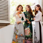 Bộ ba mỹ nhân làm mẫu áo dài Minh Châu