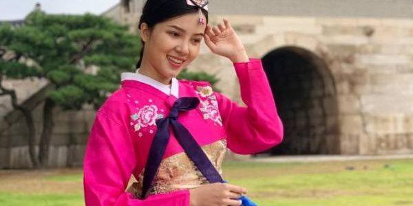 Huỳnh Thúy Vi đón thu sớm ở Hàn Quốc