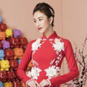 Nhìn Á hậu Hà Thu mặc áo dài, ai cũng mong đến Tết