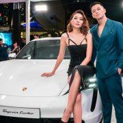 Thanh Hằng, Trọng Hiếu hội ngộ tại sự kiện của Porsche