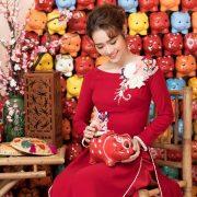 Diệp Bảo Ngọc làm mẫu cho BST áo dài mới của NTK Minh Châu