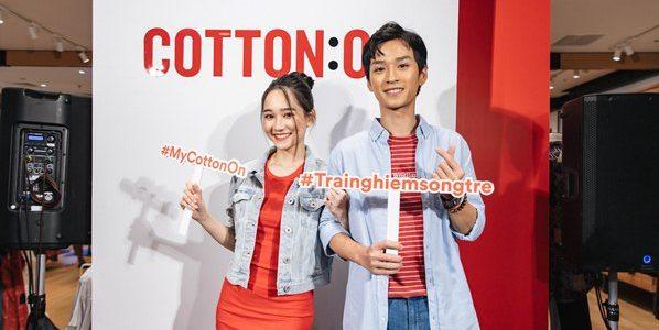 """Cặp đôi """"mắt biếc"""" Trần Nghĩa – Trúc Anh tái hợp tại sự kiện khai trương cửa hàng Cotton On"""