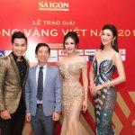 Hoa hậu Tường Vy rạng rỡ tại Lễ trao giải Quả bóng vàng Việt Nam 2019