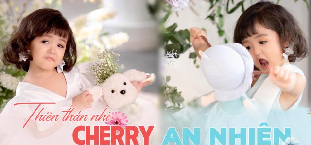 Tan chảy với 1001 biểu cảm siêu đáng yêu của 'thiên thần nhí' Cherry An Nhiên