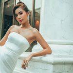 Minh Tú tái xuất showbiz, diện váy gợi cảm tại sự kiện