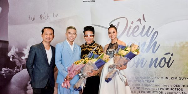 MC Thanh Bạch, Hoa hậu Kiều Ngân, Đạo diễn Nguyễn Quý Khang đến chúc mừng ca sĩ trẻ SIIN