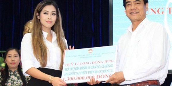 Tiên Nguyễn chăm làm từ thiện sau khi khỏi Covid-19