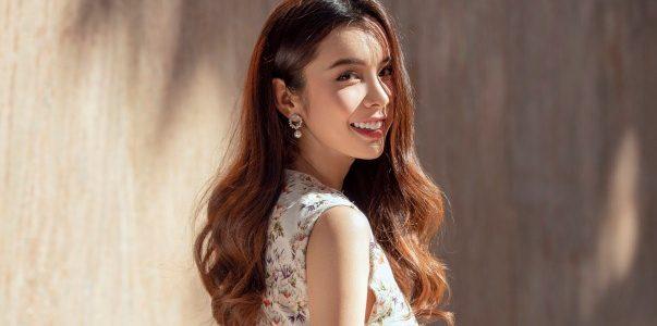 Hoa hậu Huỳnh Vy khoe nhan sắc ngọt ngào với váy hoa thanh lịch