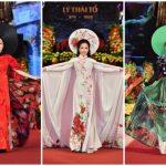 Bộ ba doanh nhân An Nhiên – Vivi An – Lee Nguyễn mở màn ấn tượng BST Hà Nội 12 sắc hoa của Hương Queen