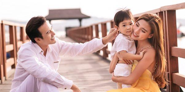 Lương Thế Thành, Thúy Diễm vi vu Phú Quốc cùng con trai