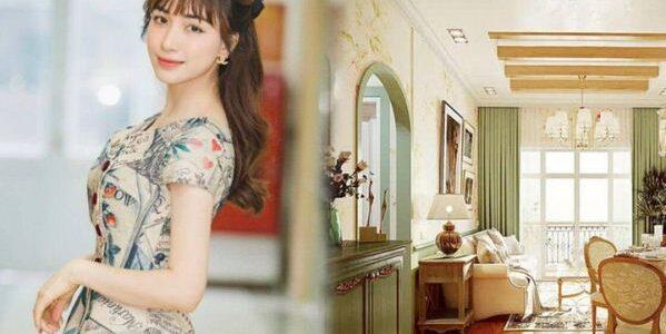Căn hộ tông xanh vintage 50 m2 của Hòa Minzy