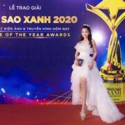 Hoa hậu Linh Huỳnh gây chú ý với nhan sắc ngày càng sắc sảo trên thảm đỏ Ngôi Sao Xanh 2020