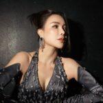 Trà Ngọc Hằng diện sắc đen huyền bí dự chung kết Đại sứ hoàn mỹ 2020