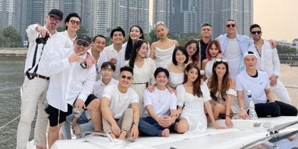Tiệc du thuyền của Tiên Nguyễn và hội bạn Rich kids