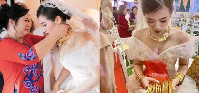 Đám cưới 1000 khách, vàng đeo trĩu cổ, cô dâu hạnh phúc nhất là đây