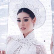 Khánh Vân sẽ diễn áo dài kèm mô hình kén tại Miss Universe
