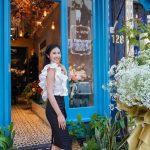 Hoa hậu Ngọc Hân, Mỹ Linh trổ tài cắm hoa tại S Florist