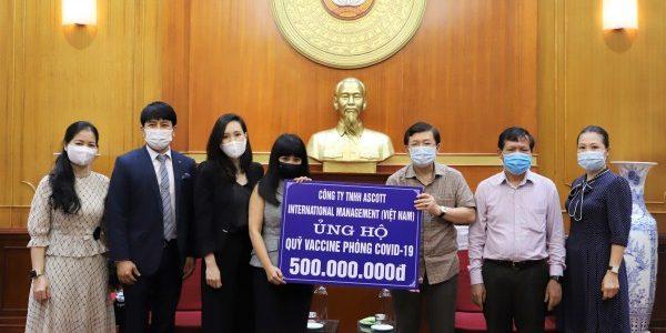 Ascott Việt Nam ủng hộ 500 triệu đồng vào quỹ vắc-xin phòng chống dịch Covid-19