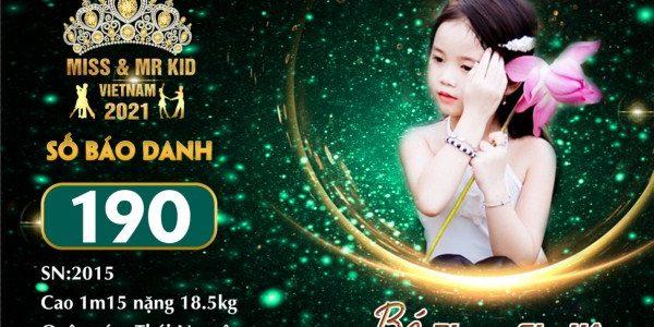 Mẫu nhí Phạm Gia Hân 'ghi dấu ấn' mới tại đấu trường nhan sắc Miss & Mr Kid 2021